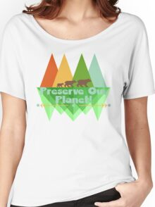 Preserve Our Planet Women's Relaxed Fit T-Shirt