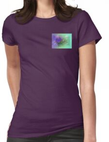 Serenity Prayer Morning Glory Collage Womens Fitted T-Shirt
