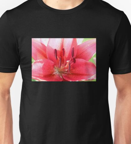 Pink Lily Up Close Unisex T-Shirt