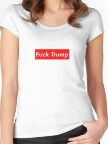 Fuck Trump Women's Fitted Scoop T-Shirt