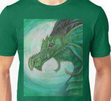 Green illustrated Oil pastel fantasy dragon  Unisex T-Shirt