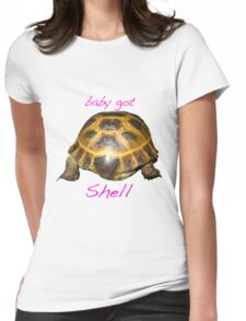 Tortoise - Baby Got Shell Womens Fitted T-Shirt