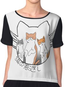 The Cat Returns Chiffon Top