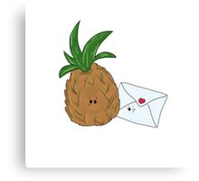 Even Pineapples Love Post.  Canvas Print