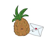 Even Pineapples Love Post.  Photographic Print