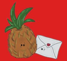 Even Pineapples Love Post.  One Piece - Long Sleeve