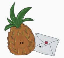 Even Pineapples Love Post.  Kids Tee
