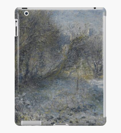 Auguste Renoir - Snow-covered Landscape 1870 - 1875 iPad Case/Skin