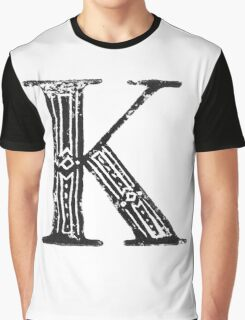 Serif Stamp Type - Letter K Graphic T-Shirt