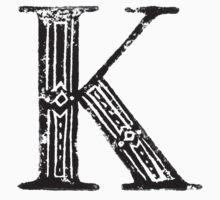 Serif Stamp Type - Letter K Kids Tee