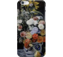 Auguste Renoir - Mixed Flowers in an Earthenware Pot  1869 Woman Portrait iPhone Case/Skin