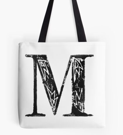 Serif Stamp Type - Letter M Tote Bag