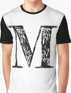 Serif Stamp Type - Letter M Graphic T-Shirt