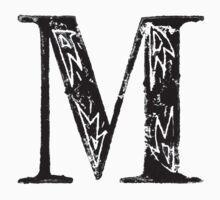 Serif Stamp Type - Letter M Kids Tee