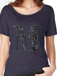 Serif Stamp Type - Letter M Women's Relaxed Fit T-Shirt