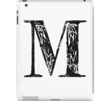 Serif Stamp Type - Letter M iPad Case/Skin