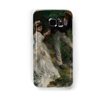 Auguste Renoir - La Promenade 1870 Woman Portrait Impressionism  Landscape Samsung Galaxy Case/Skin