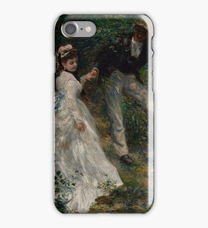 Auguste Renoir - La Promenade 1870 Woman Portrait Impressionism  Landscape iPhone Case/Skin