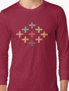 Hipster Crosses Long Sleeve T-Shirt