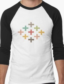 Hipster Crosses Men's Baseball ¾ T-Shirt