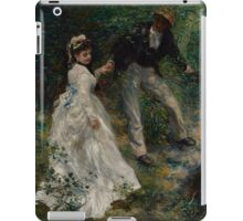 Auguste Renoir - La Promenade 1870 Woman Portrait Impressionism  Landscape iPad Case/Skin