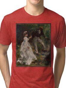 Auguste Renoir - La Promenade 1870 Woman Portrait Impressionism  Landscape Tri-blend T-Shirt