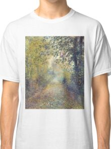 Auguste Renoir - In the Woods  1880 Impressionism  Landscape Classic T-Shirt