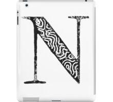 Serif Stamp Type - Letter N iPad Case/Skin