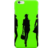 Silhouette of fashion girls iPhone Case/Skin