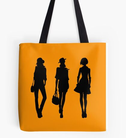 Silhouette of fashion girls Tote Bag