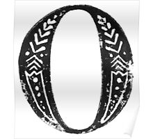 Serif Stamp Type - Letter O Poster