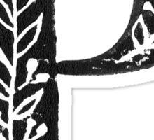 Serif Stamp Type - Letter P Sticker