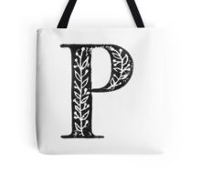 Serif Stamp Type - Letter P Tote Bag