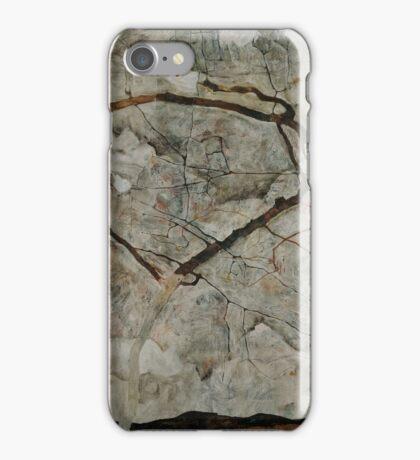 Egon Schiele - Autumn Tree in Stirred Air Winter Tree 1912 Expressionism, Landscape iPhone Case/Skin