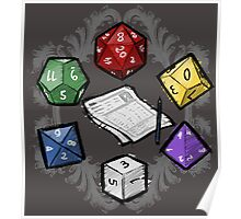 RPG DICE set and DICE PATTERN Poster