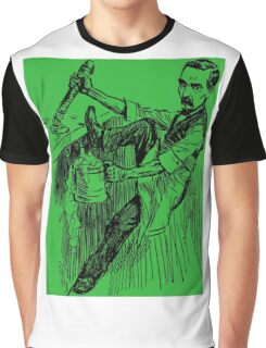 Barkeep on the Job (Green Background) Graphic T-Shirt