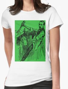 Barkeep on the Job (Green Background) Womens Fitted T-Shirt