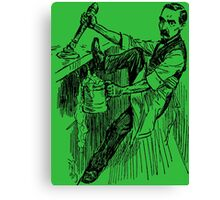 Barkeep on the Job (Green Background) Canvas Print