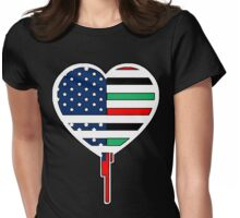 AFRICAN AMERICAN BLEEDING HEART 2 Womens Fitted T-Shirt