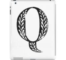 Serif Stamp Type - Letter Q iPad Case/Skin