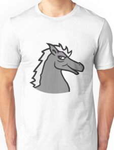 face head cool riding horse stallion equestrian comic cartoon Unisex T-Shirt