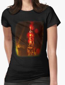 Tower Theater, Upper Darby Womens Fitted T-Shirt