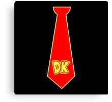 donkey kong tie  Canvas Print