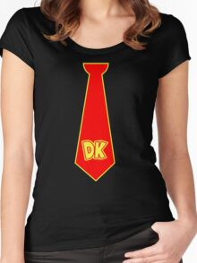 donkey kong tie  Women's Fitted Scoop T-Shirt