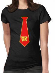 donkey kong tie  Womens Fitted T-Shirt