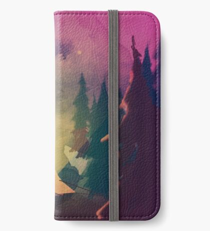 Night in the forest [watercolor] iPhone Wallet/Case/Skin