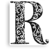 Serif Stamp Type - Letter R Canvas Print