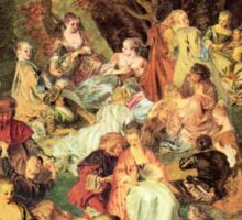 The Jean-Antoine Watteau Memorial Picnic Sticker