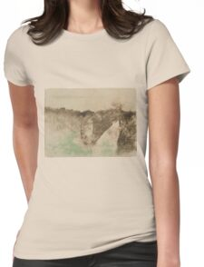 Edgar Degas - The Road in the Forest ( 1890 -  1893) Womens Fitted T-Shirt