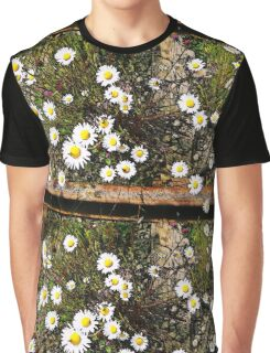 Wild Daisies on a Railroad Track Graphic T-Shirt
